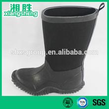 2015 New York black girls rain boots with heel loop