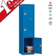 Locker room furniture for small space/3 door iron almirah school dormitory cabinets/steel cupboard clothes almirah price
