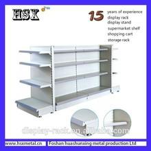 4 way heavy duty priced supermarket gondola shelving HSX-Z-303