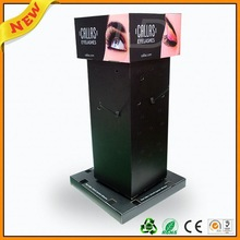 recycle cosmetic counter display ,rable top cosmetic display cabinet ,pvc or ps cosmetic display stand
