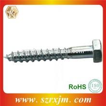 Alta calidad de cabeza hexagonal tornillo de madera DIN571 entrenador tornillo