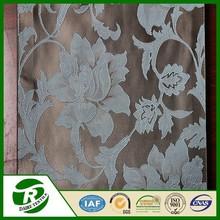 Beautiful flower design dubai polyester jacquard fabric curtain