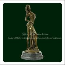 Stunning Art Deco Nude Female Sexy Bronze Sculpture Statue