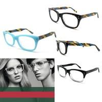 2014 designer glasses frames for men and women acetate blue demi and black