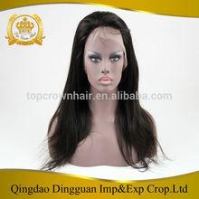 QingDao Top Crown human hair wig cheap unique brazilian glue less lace wigs