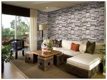 2014 last new 3D stone design PVC wallpaper china manufacture