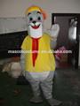 vendas hot selo mascote selo branco cosplay cartoon selo lindo traje dos desenhos animados