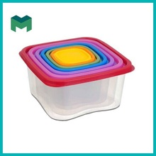 square colorful keeping fresh container for food