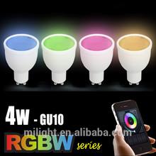 Blanco frío blanco caliente temperatura de color( cct) y aleación de aluminio cuerpo de la lámpara led material gu10 bombillas