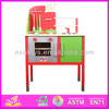 Hot New product for 2015 promotional wooden kitchen toy,intelligent wooden toy kitchen set WJ278615-A1