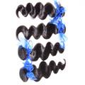 Aceitar paypal wholeasle remy cor natural do cabelo profunda onda 100% virgem não transformados cabelo peruana