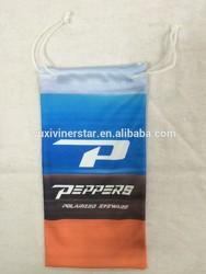 Logo print sunglasses pouch,microfiber sunglass case,cheap sunglasses case