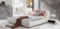 Italian style gracieux et élégant de lit en tissu, confortable mobilier de chambre lit en tissu