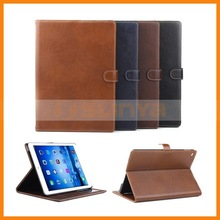 Money Insert Inside Genuine Leather Veins Wallet Case For Apple iPad Air 2 Wallet Case With Card Slots