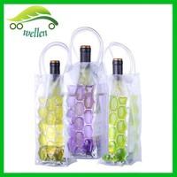 Portable PVC wine cooler bag wine cooler plastic bag