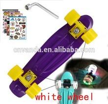 17'' Penny Skateboard Boy Girl Kids Retro Cruiser skate board Single Rocker mini longboard complete Plastic Luminous 4 Wheels