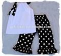sexy roupas de meninas preto branco bot calças 2015 novo design crianças de roupa por atacado