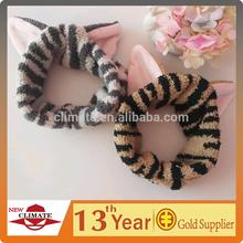 Cute coral fleece headband with cat ears animal ears cheap wholesale