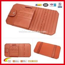 2015 New Product Faux Leather Car Visor CD Holder, Custom Made Fashion Car CD Case, Sun Visor CD Holder