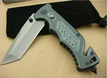 low moq fast delivery tanto tip blade super fire aluminium handle spring assist open tactical folding rescue pocket knife