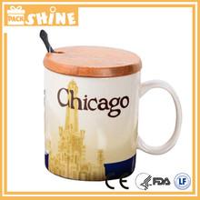 2015 100% food grade 16oz new Bone china coffee cup ceramic for sale
