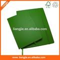 Oficina y suministros de la escuela venta al por mayor de cuero verde borde redondo cuaderno de papel