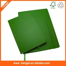 office and school supplies wholesale green leather round edge paper notebook