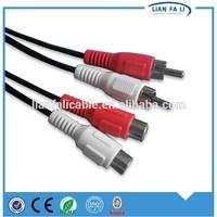Lianfali good quality 2RCA TO 2RCA AV cable bulk audio cable db9 to vga cable