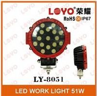Automobile 2 X 51w led work light Spot lamp, Driving 12v Car 4x4 accessories 51watts, super bright auto 51w led work light