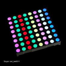 full color 5 mm outdoor rgb led matrix 60.2*60.2 led dot matrix display 8x8
