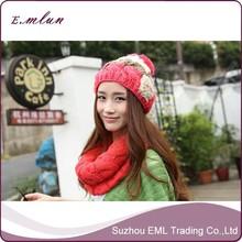 Wool hats girls winter decoration fashion simple new design