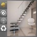 interior de acero inoxidable escaleras para villa de estilo de la casa pequeña