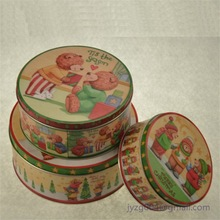 Delicate new customized designed china factory directly tin box/tin can metal material new born baby tin gift set