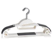 multi usage new material with black color anti slip strip korean design plastic clothes hanger