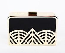 (S20216)Metal Frame Box Clutch Fashion Evening Bag Fancy Clutch Purse