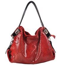 GL576 large tote genuine leather bag snake skin fashion cheap fashion bags