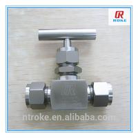 swagelok style stainless steel high pressure panel-mounted needle valve