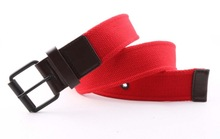 Wholesales Red cotton lady belt with low MOQ