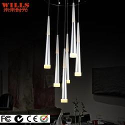 Modern aluminum silver led pendant lighting for restaurant/bar/hotel