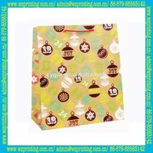 alibaba china custom luxury UV coating brown paper bag printing