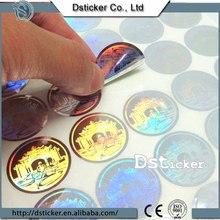 Gold hot stamp color hologram sticker