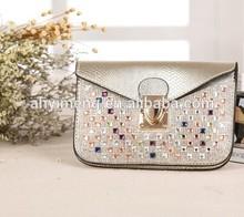New change purse lady bags drill purse one shoulder messenger bag women's handbags(M40035F)
