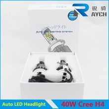 40w c ree xm2 led headlight 4 chips on both sides for car and motorcycle
