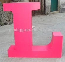 Customized stainless steel led channel letter sign/shop signage/3d foam letters