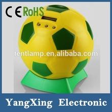 Plastic ball money box with lock and key