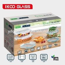 10 pieces borosilicate glass storage canister set