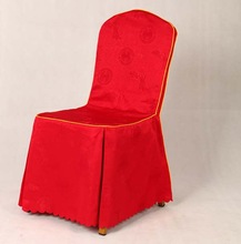 fashionalbe elegant jacuqard polyester chair covers/damask chair covers