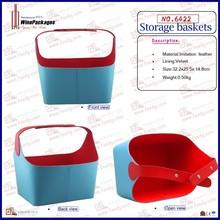 Wine package wine storage basket with handle