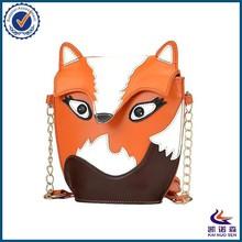Brand fashion cute women PU leather fox messenger bag