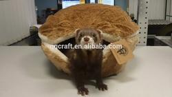 BSCI QQFactory plush hamburgers and hot dogs bed / burger bun pet cat bed